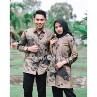 Kemeja Batik Modern Pria Wanita Couple Ruffle Exclusive - Batik Pria, S
