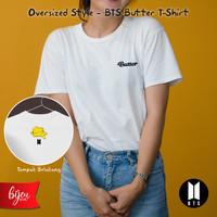 BTS BUTTER T-SHIRT / KAOS / ARMY / PUTIH / WHITE