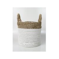 Dia 25 cm/Keranjang Anyaman Plastik-Seagrass/Putih/Cover Pot/LW07-S