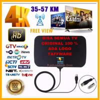 Antena TV Digital DVB-T2 4k High Gain 25-Db Tfl-D139 Original Taffware - D-139