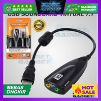 Sound Card USB Virtual 7.1 Channel / Audio Mic Soundcard USB - 5Hv2