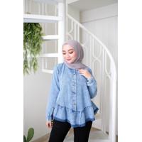 Minami Blouse Jeans | Terminal Grosir | Baju Atasan Wanita