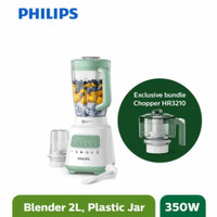 PHILIPS HR2221 Blender [2 L/350 W] Bundling HR3210/55 Chopper