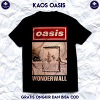 Kaos Pria dan Wanita. Kaos Musik Band Rock Oasis Original. Baju Distro