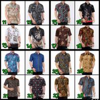baju Koko kombinasi / batik terbaru /kemeja pria lengan pendek panjang