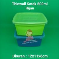 Lunch box mini 500ml HIJAU- Thinwall Kotak Makan -Food Container Bekal