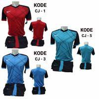 1 lusin/12 set baju kaos olahraga jersey stelan futsal voley bola CJ