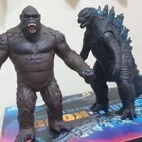 Godzilla dan Kong Movie Monster Series Bandai ori SET promo