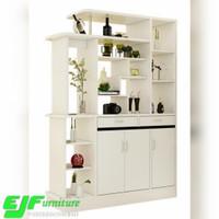 partisi pembatas ruangan model minimalis terbaru warna putih