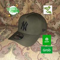 topi baseball pria new york NY topi distro casual branded new era cap - bordir hitam