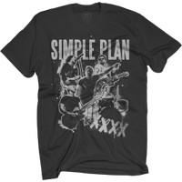 [Official Simple Plan] XXXX Black T-Shirt - Merchandise Resmi