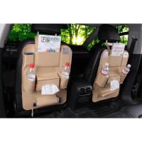 CAR SEAT ORGANIZER PREMIUM BACK SEAT ORGANIZER LEATHER
