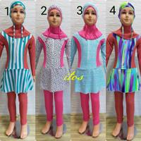 Baju Renang Muslimah Anak PAUD/TK Motif Cantik