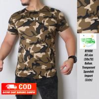 (BISA COD) kaos Army pria / baju olahraga gym fitnes loreng camo LIGHT