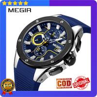 Jam Tangan Pria Analog Import MEGIR B2053 Original Garansi 1 Tahun - Biru