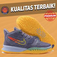Sepatu Basket Sneakers Nike Kyrie 7 Day Break Citrus Grey Orange
