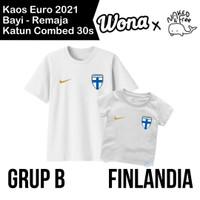 Kaos Euro Naked &Free Grup B (Finlandia) Untuk Bayi-Remaja Bahan Katun