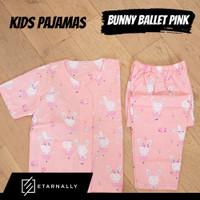 Baju Tidur Anak / Piyama Anak Katun Premium Motif BUNNY BALLET - PINK, S