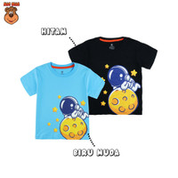 MacBear Baju Anak Laki-laki Kaos Galaxy Astronaut On The Moon