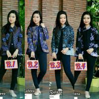 Atasan Batik blouse batik bolero Wanita Blus Blezzer
