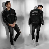 Jaket Baseball Pria - Varsity Jacket Salvio Hexia Parasut