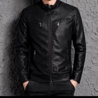 jaket kulit domba asli garut - Hitam, S