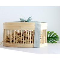 Round Bamboo Box