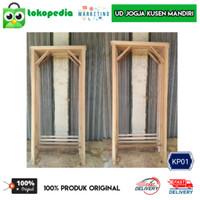 KP01 - Kusen pintu kayu mahoni