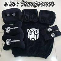 Bantal Sarung Jok Mobil Transformer paket 5in1 headrest