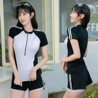 Baju renang wanita atasan celana swimsuit women new sli620 - Hitam putih