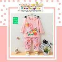Baju Tidur Anak Perempuan / Piyama Swan - Pink, 55 1-2years