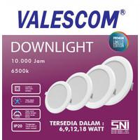 Lampu Downlight 6,9,12,18 Watt Valescom / Led Panel - 6 Watt, E-27