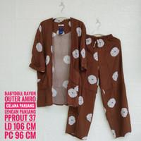 Baju Tidur AMRO Lengan Panjang Outer Celana Panjang (PPROUT)
