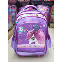 Tas Trolley Anak SD Perempuan UNICORN KUDA PONY Butterfly EMBOS TIMBUL