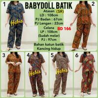 BD 166 Babydoll batik celana panjang bigsize XL piyama setelan