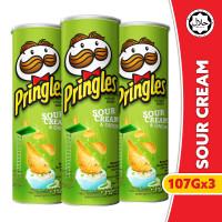 [BUNDLE 3pcs] Pringles Sour Cream & Onion 107gr