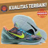 Sepatu Basket Sneakers Nike Kobe 6 Prelude Multicolor Green