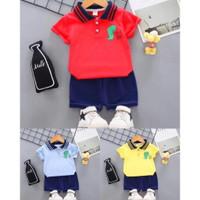 Setelan Baju Anak Laki-Laki Kaos Celana Bayi Balita 1-4 Tahun TEABAG