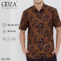 Baju Batik Slimfit Lengan Pendek Pria