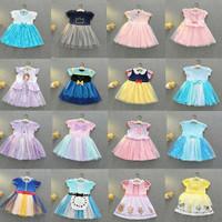 dress gaun baju kostum pesta princess putri impor anak perempuan cewek