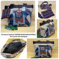 Tas Tote Bag Wanita Kanvas Thailand / Tas Selempang Kanvas Motif Impor