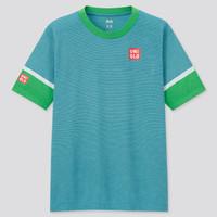 Baju Tenis Uniqlo Kei Nishikori Blue Tennis T-Shirt Limited Edition