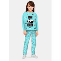 Piyama Anak Perempuan/Baju Tidur Panjang/Setelan Kaos Anak 3-12 tahun - BP500, S