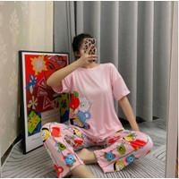 Piyama wanita set motif disney / baju tidur remaja dewasa spandex