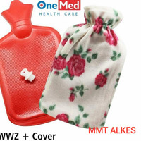 wwz + cover - Bantal Kompres Air Panas Buli Buli Hot Water Bag Warm Wa