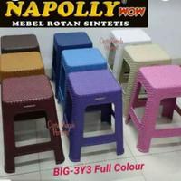 Kursi Bakso Petak Plastik Napolly BIG 3Y3 Full Colour Bangku Kotak