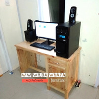 meja kerja kantor 110x50x75. kayu jati belanda