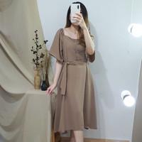Dress Terusan Casual Wanita Premium - Joyce 2way Dress NWclothing - White