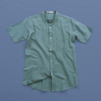 COTTON.GO Kemeja Linen Grand Collar Lengan Pendek - Mint - M