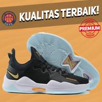 Sepatu Basket Sneakers Nike PG 5 Black Multicolor White HITAM PUTIH